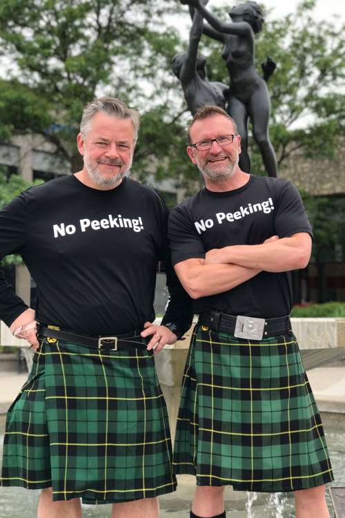 Jim Winterbottom (Left) and Chris Carrier, CEO, Men In Kilts (Right)