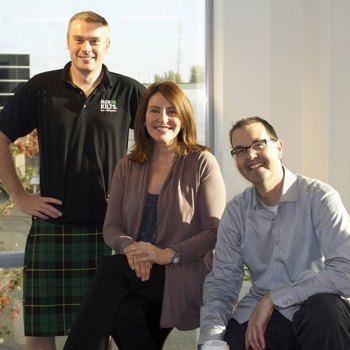 Men In Kilts | Nicholas Brand, Tressa Wood and Brent Hohlweg (From Left)